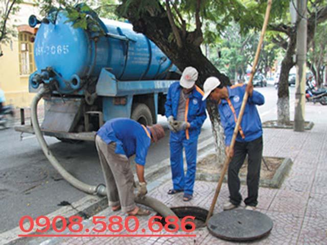 Dịch vụ thông cống nghẹt tại KCN Long Hương