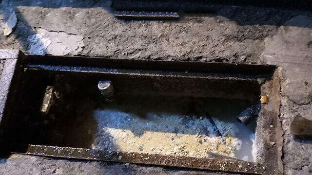 Đường ống cống bị nghẹt