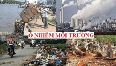 Thực trạng ô nhiễm môi trường